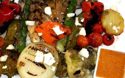 Légumes verts frais grillés